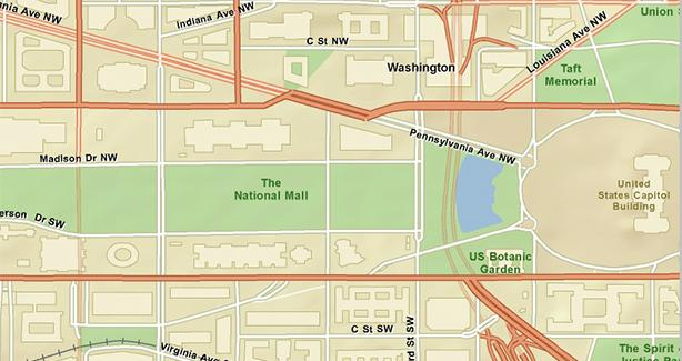 Map of Downtown DC